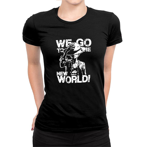 Monkey The Luffy World -Women's Half Sleeve Black