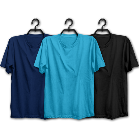 Image of NSB Combo Half Sleeve T-shirts(Pack of 3)