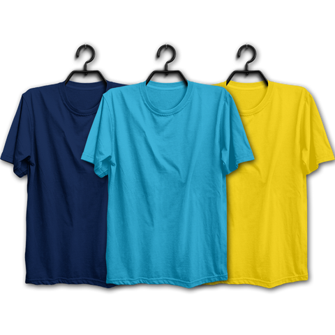 Image of NSY Combo Half Sleeve T-shirts(Pack of 3)