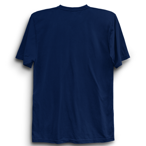 Basic Plain Navy Blue Half Sleeve