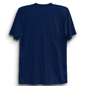 Are Learned Through Pain -Half Sleeve Navy Blue