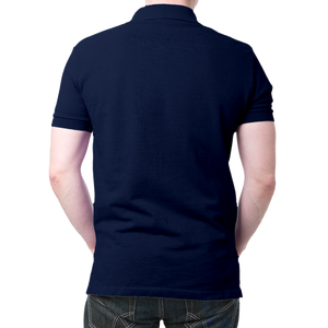 Om- Polo T-shirt Navy Blue