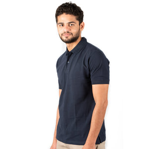 Men's Basic Polo Navy Blue T-shirt