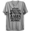 Image of Never Underestimate June -Half Sleeve Grey