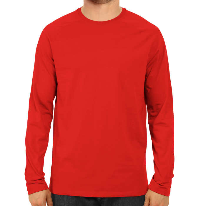 Men's Basic Plain Red Full Sleeve