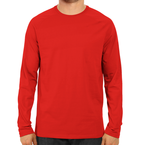Image of Men's Basic Plain Red Full Sleeve