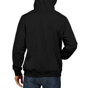 Men's Basic Plain Black Hoodie