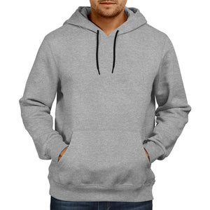 Men's Basic Plain Grey Hoodie