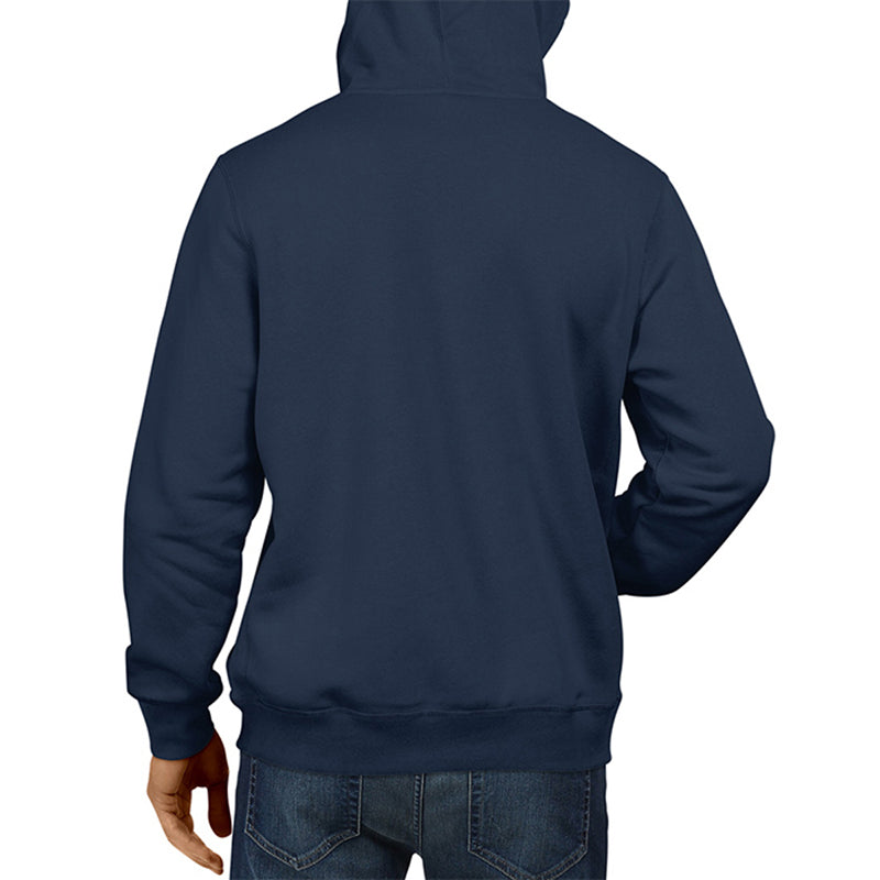 Men's Basic Plain Navy Blue Hoodie