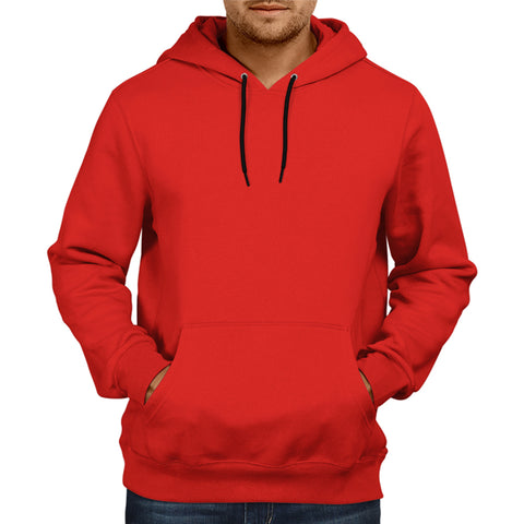 Men's Basic Plain Red Hoodie
