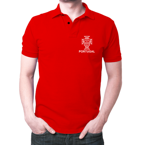 Portugal Logo- Polo T-shirt Red