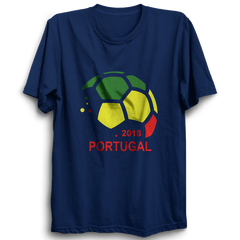 PORTUGAL 2018  -Half Sleeve Navy Blue