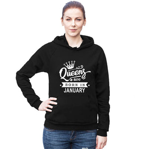 Queens Are Born In January 2 - Black Hoodie