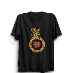 IPL 08 B- Royal Challengers Bangalore Half Sleeve Black