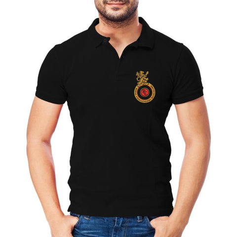 IPL 08 B- RCB Black Polo T-shirt