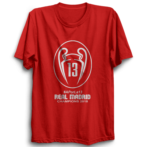 Real Madrid Champion -Half Sleeve Red