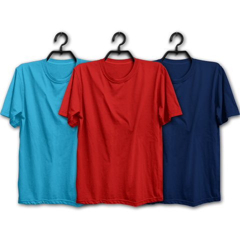 Image of SRN Combo Half Sleeve T-shirts(Pack of 3)
