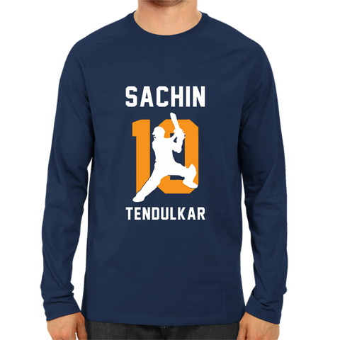 CRIC 24- Sachin 10 Tendulkar -Full Sleeve-Navy Blue