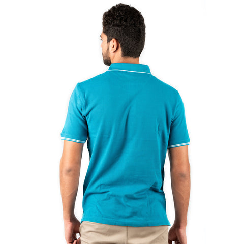 Image of Men's Basic Polo Turquoise T-shirt