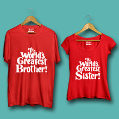 The World Greatest Brother & Sister - Half sleeve Red