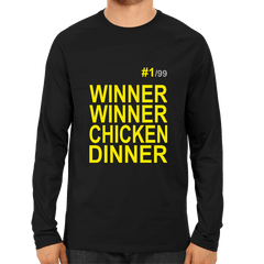PUBG-08-Winner Winner Chicken Dinner  -Full Sleeve Black
