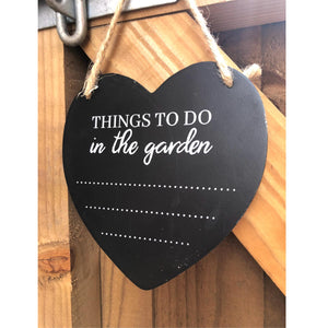 Potting Shed Things to do in Garden Chalkboard