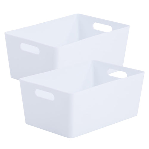 Storage Basket Rectangular White Ice 4.02 (Pack of 2)