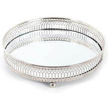 Load image into Gallery viewer, Silver Mirror Candle Plate (20cm)