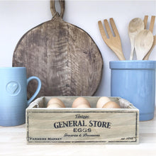 Load image into Gallery viewer, General Store Wooden Egg Crate