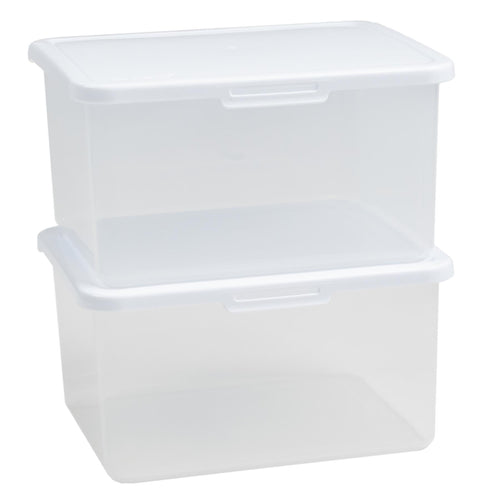 4.1L Rectangular Food Locker Clear/White 7.03 (pack of 2)