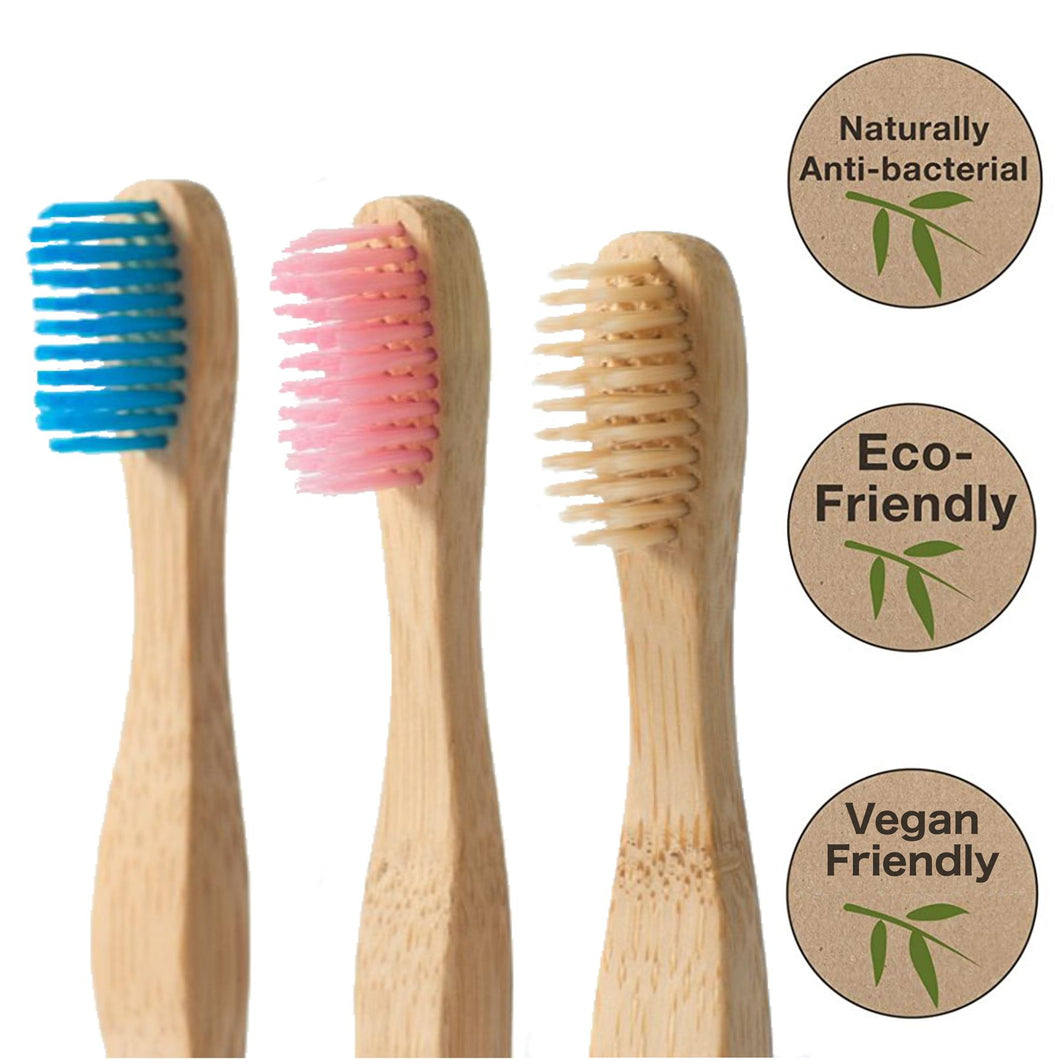 Bamboo Toothbrushes (Pack of 3)