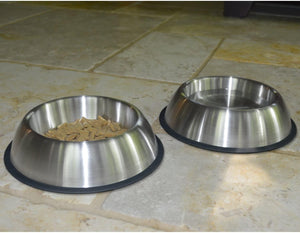Anti-Slip Dog Steel Bowl 450ml