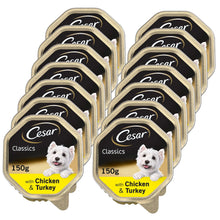 Load image into Gallery viewer, Cesar Dog Chicken & Turkey Tray 150g (Pack of 14)