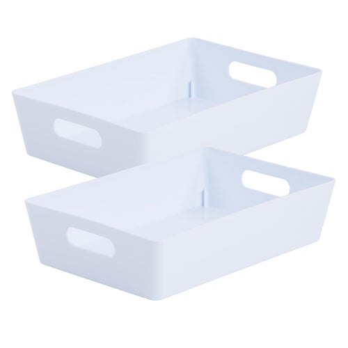 Storage Basket Rectangular White Ice 4.01 (Pack of 2)