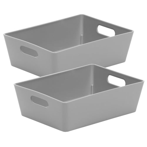 Storage Basket Rectangular Cool Grey 3.01