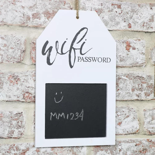 Wifi Password Plaque Blackboard