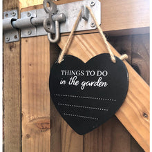 Load image into Gallery viewer, Potting Shed Things to do in Garden Chalkboard