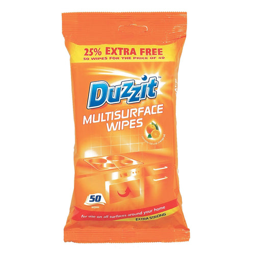 Duzzit Multi Surface Extra Strong Wipes 50's