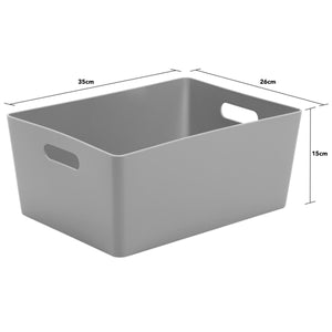 Storage Basket Rectangular Cool Grey 5.02 (Pack of 2)