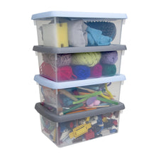 Load image into Gallery viewer, Wham Storage Boxes 3.5L set of 4 clear/assorted