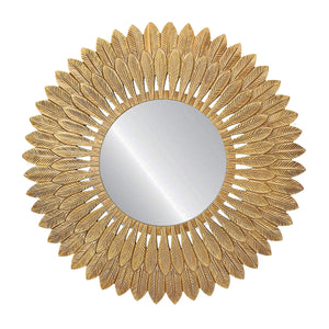 Gold Feathered Wall Mirror