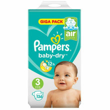 Load image into Gallery viewer, Pampers Baby-Dry Nappies size 3 - 136 Giga Pack