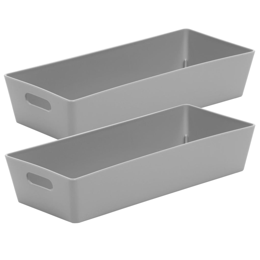 Storage Basket Rectangular Cool Grey  2.01 (Pack of 2)