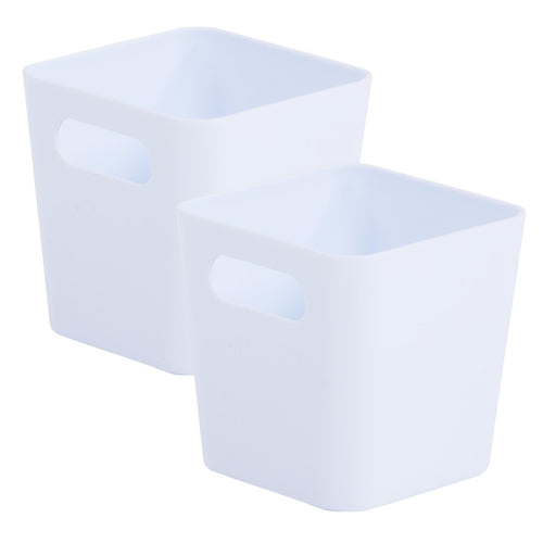 Storage Basket Square White Ice 1.01 (Pack of 2)