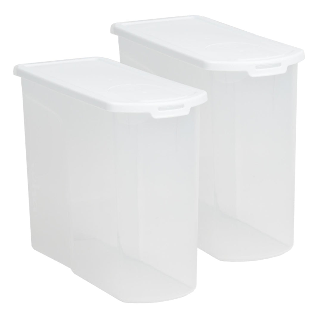 Cereal Dispenser Food Locker Clear/White 5Ltr 12.02 (Pack of 2)