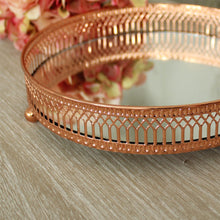 Load image into Gallery viewer, Copper Mirror Candle Plate