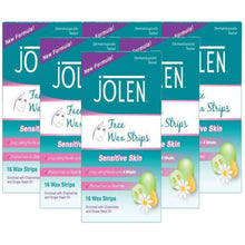 Load image into Gallery viewer, Jolen Facial Wax Strips (pack of 6)