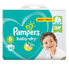 Load image into Gallery viewer, Pampers Baby Dry Nappies Size 6 92's