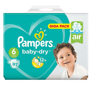 Pampers Baby Dry Nappies Size 6 92's