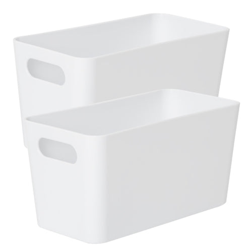 Storage Basket Rectangular White Ice 6.01 (Pack of 2)